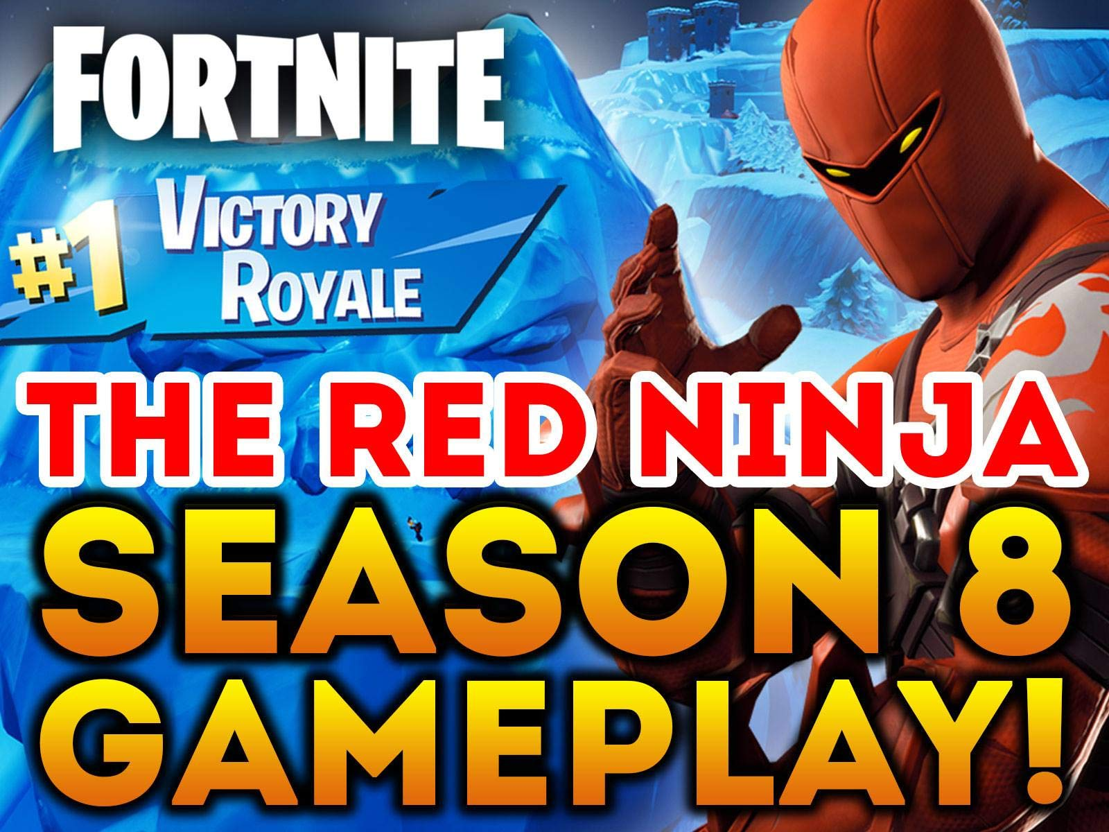 amazon com watch clip fortnite the red ninja season 8 gameplay prime video - victory royale fortnite season 8
