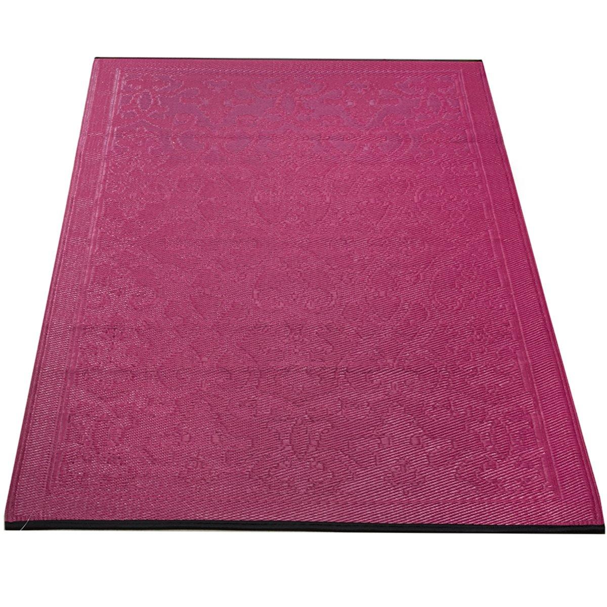 Yankee Trader 4' X 6' Indoor/Outdoor Decorative Reversible Patio Carpet Rug, Pattern 10