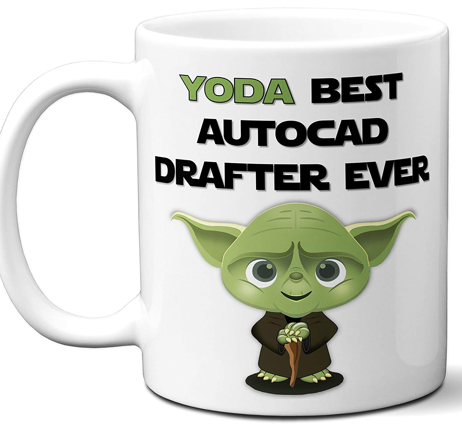 Amazon com: Funny Gift For Autocad Drafter  Yoda Best