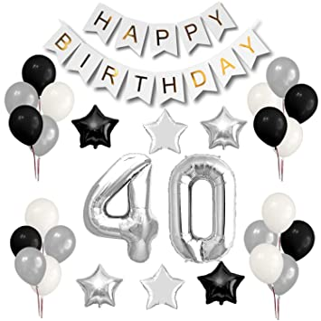 40th Birthday Party Decorations Set