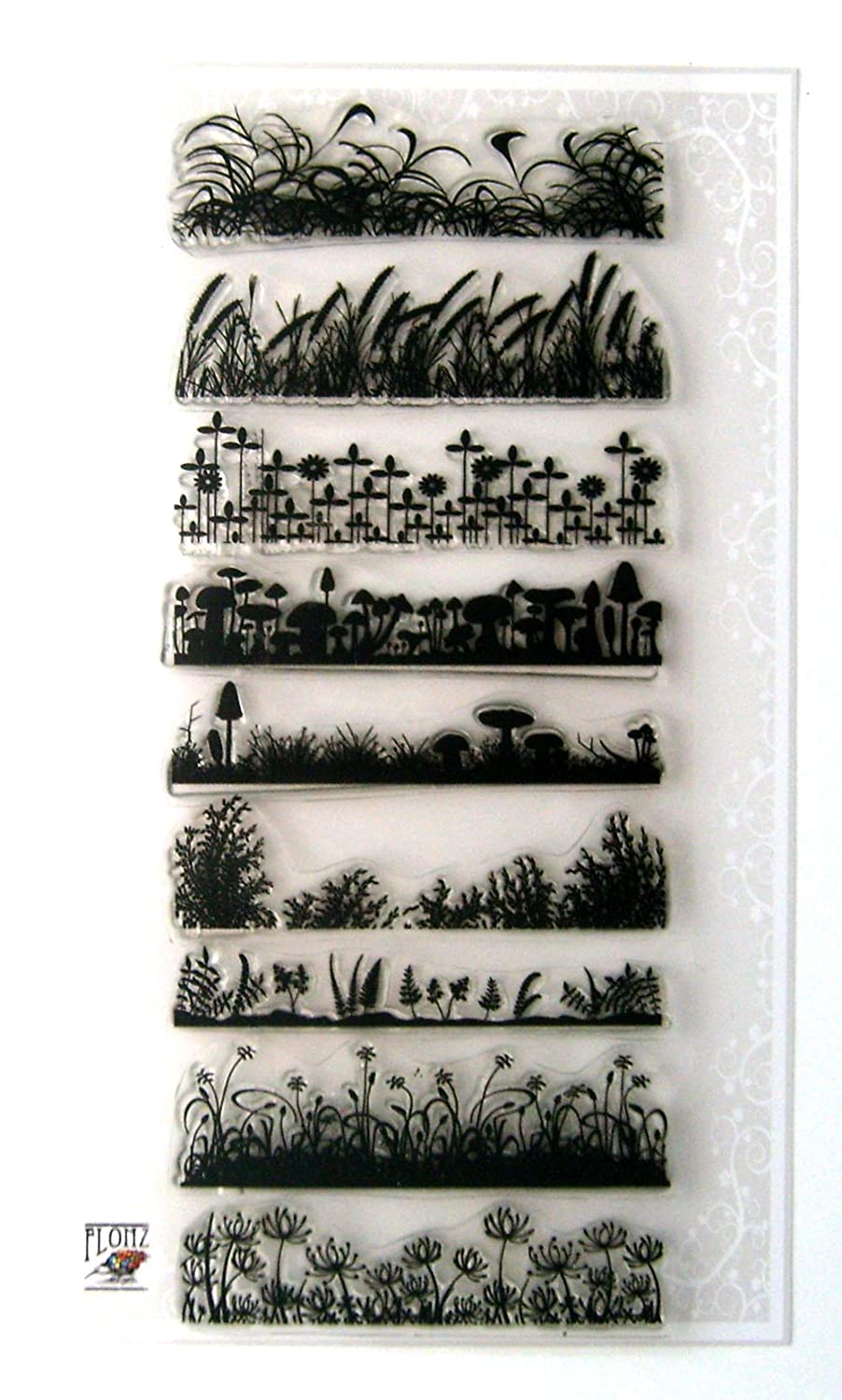 Grass Borders FLONZ Clear Stamp Sheet