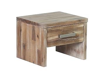 Woodkings Nachttisch Albury Akazie Rustic Schlafzimmer Massivholz ...