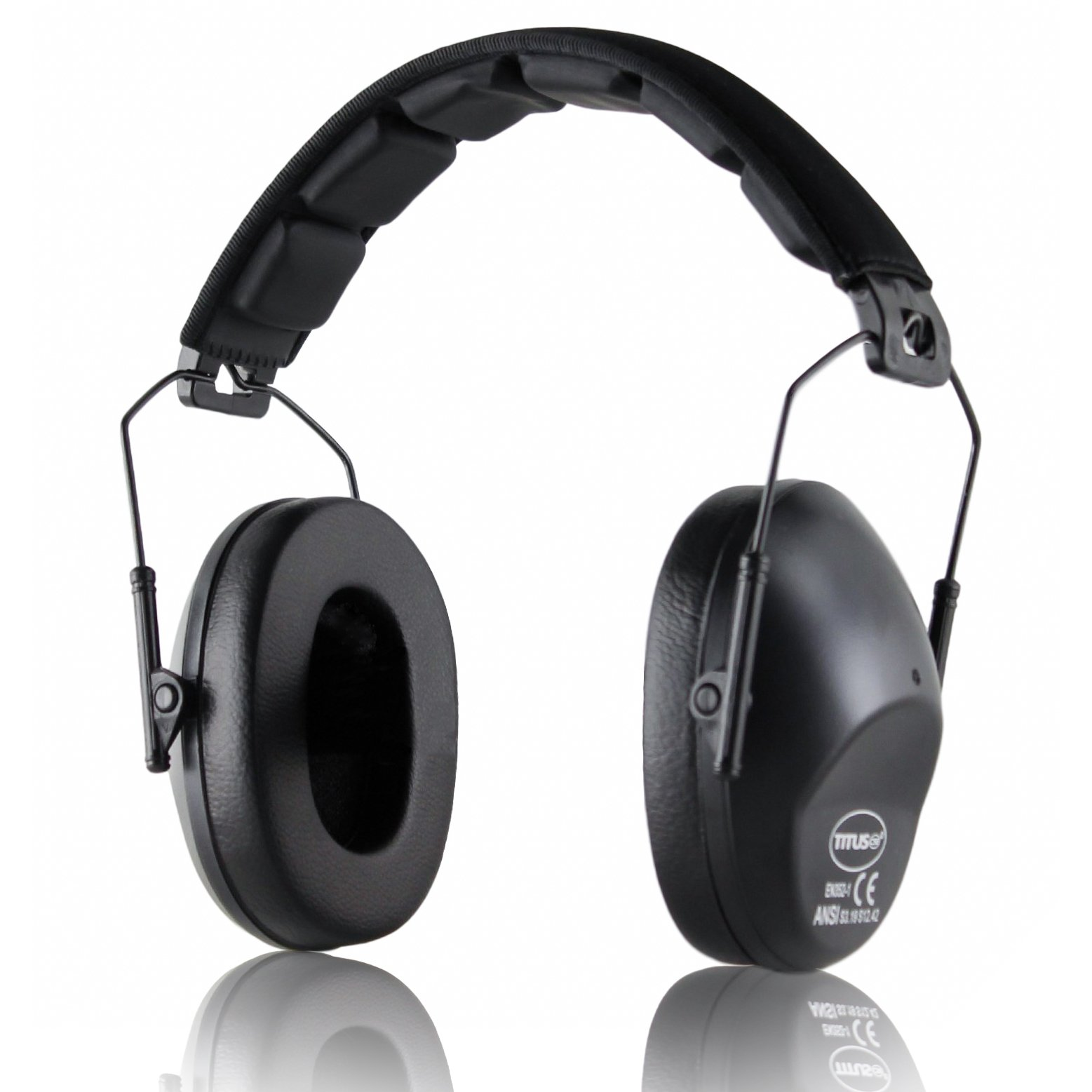 TITUS Low-Profile 34 Decibel NRR Safety Earmuffs (No Pouch, Black) by Titus (Image #3)