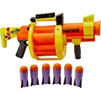 Nerf Fortnite - GL Rocket Firing Blaster - pump to fire blaster with 6 rocket drum - includes 6 official Nerf rockets…