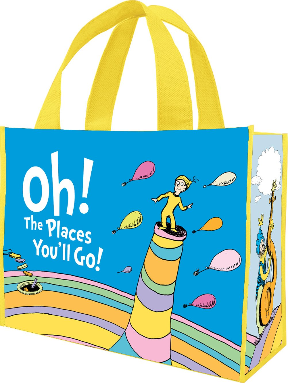 Dr. Seuss Oh the Places You'll Large Recycled Tote 17773 by Vandor (Image #1)