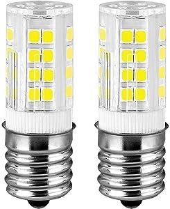 E17 LED Bulb Microwave Oven Appliance 4W, 40W Halogen Bulb Equivalent Dimmable Microwave Oven Light Bulb, AC 110V/120V/130V Pack of 2 (Daylight White 6000K)