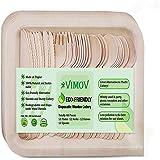 使い捨て木製カトラリー 48パック 12ナイフ 12フォーク 12スプーン 12皿  環境にやさしい 健康 ハイキングやパーティーに適用