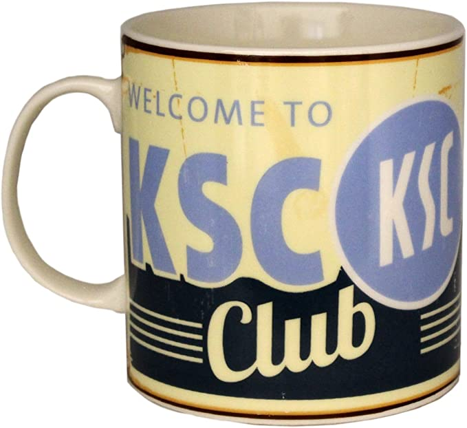 "Karlsruher SC  Kaffeebecher Tasse /""Sportclub/""  KSC"