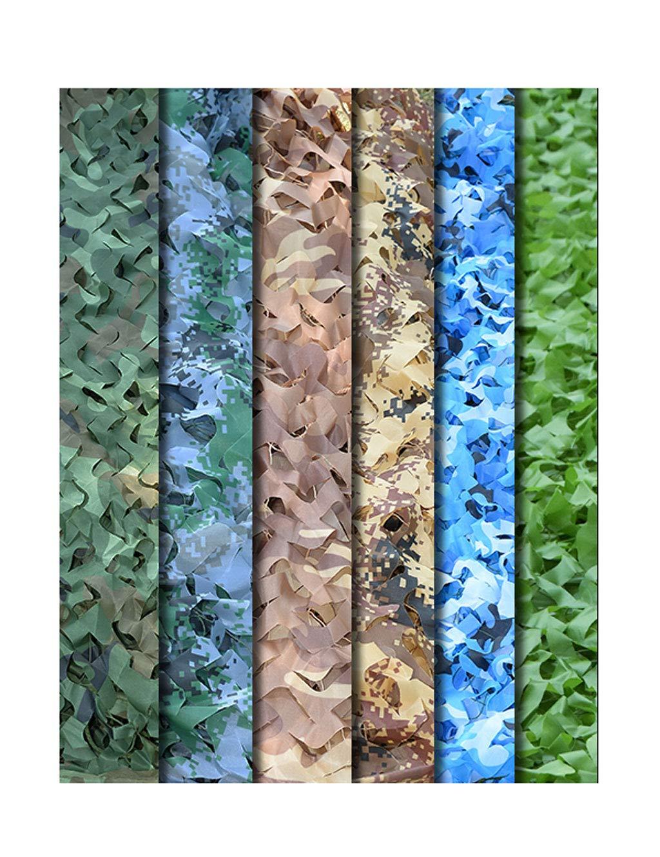 GZW001 Filet de Camouflage en Tissu Oxford Capuchon de Camouflage pour la Chasse au Camping OCEAN 6×10M