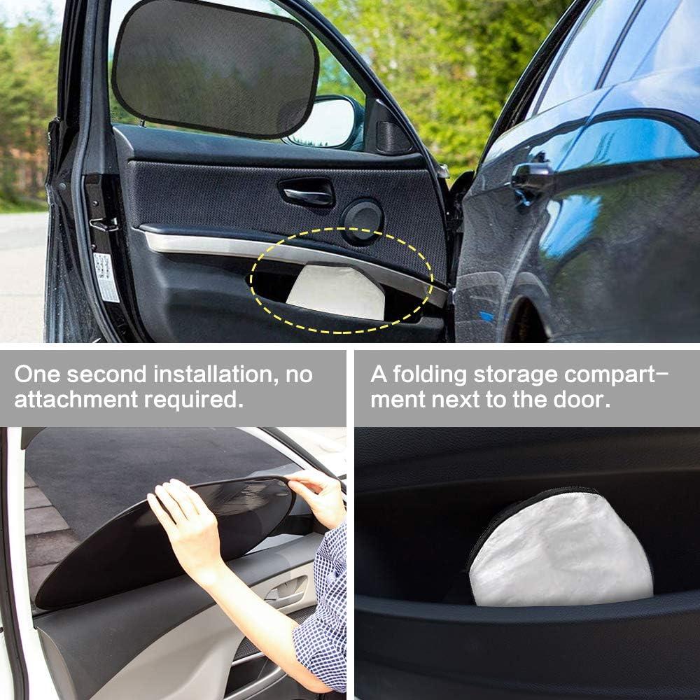 Nakeey 2 St/ück Auto Sonnenschutz Schwarz Sonnenschutz Auto f/ür Baby mit UV Schutz Selbsthaftende Sonnenblende Auto Kinder Autosonnenblende Autofenster Sonnenschutzrollos Heckscheibe 50 * 30cm