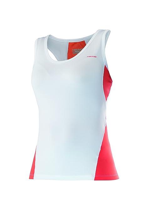 Head Ali - Polo para Mujer, Color Naranja (Coral/White), Talla