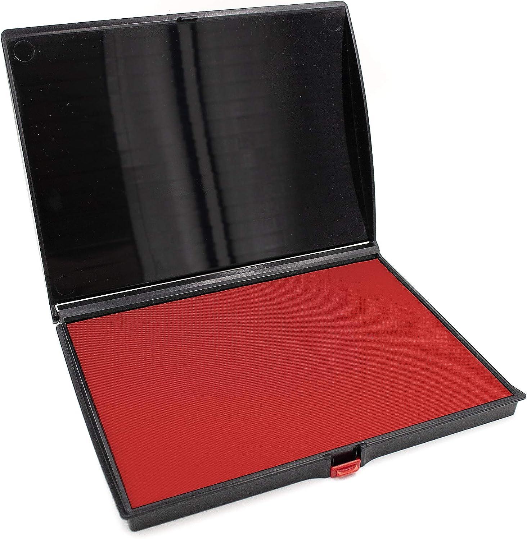 Extra Large Premium RED Ink Stamp Pad - 5