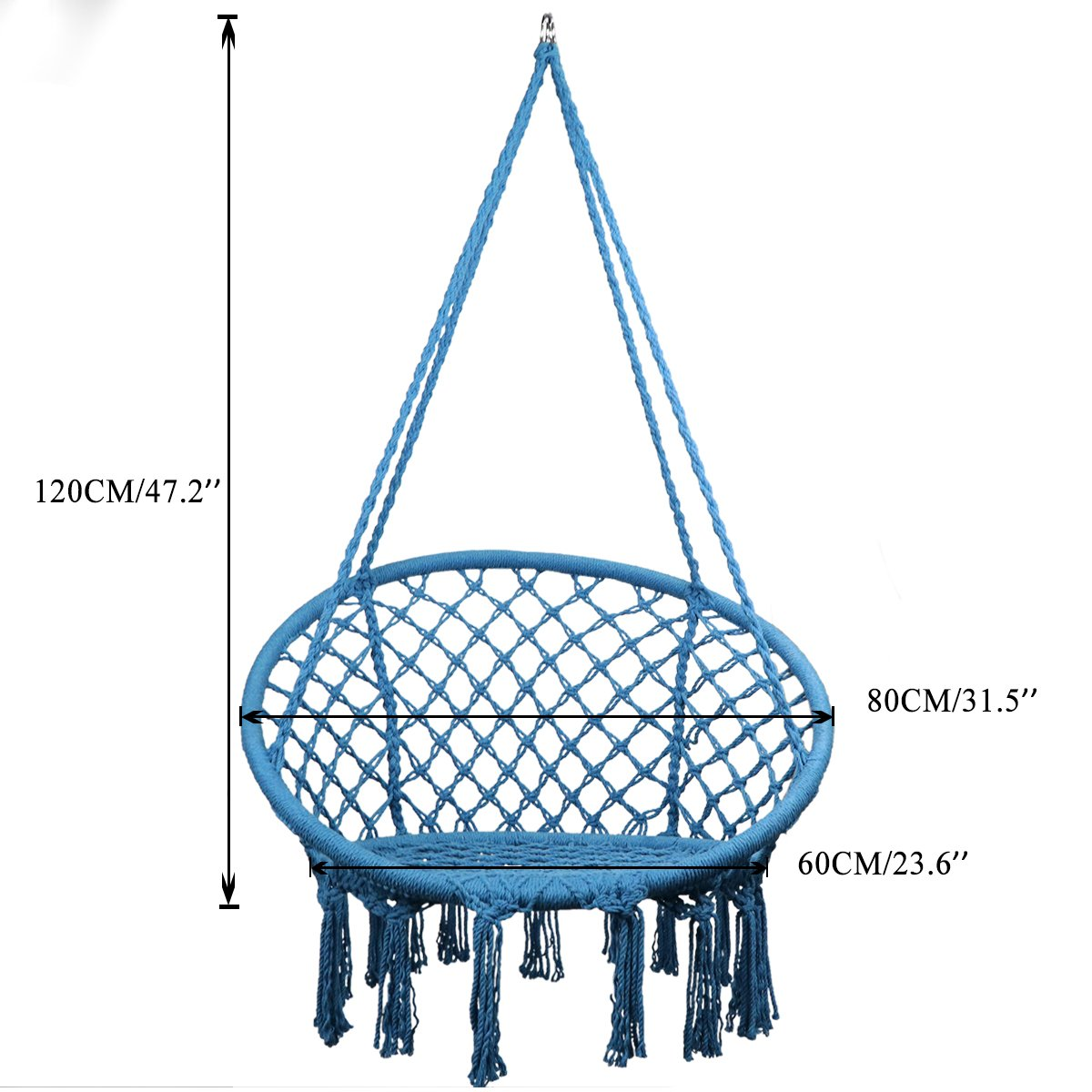 Terrific Topway Hammock Chair Macrame Swing 330 Pound Capacity Pabps2019 Chair Design Images Pabps2019Com