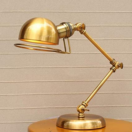 American Retro Industrial Style Robot Arm Creative Desk Lamp