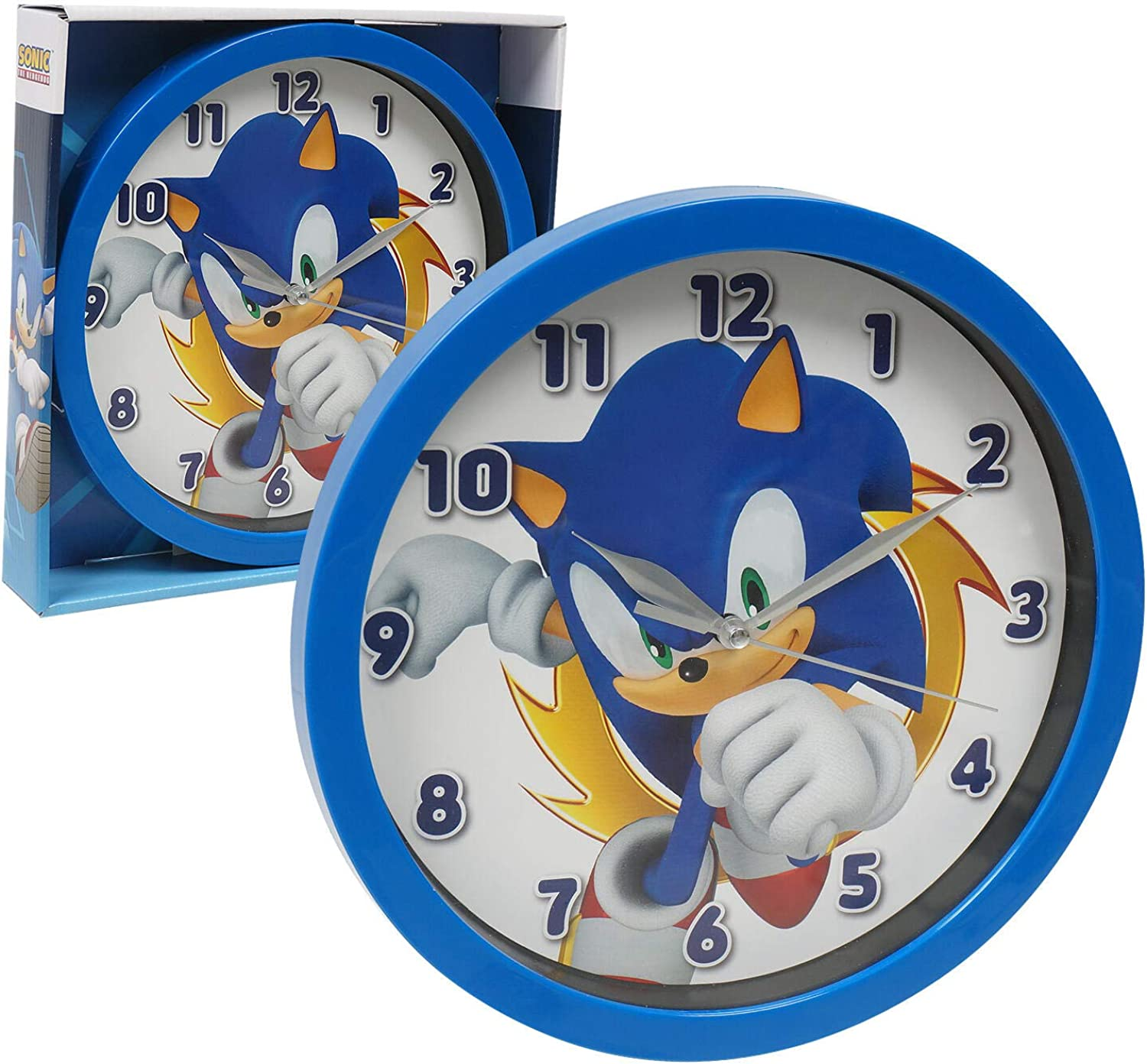 Sonic The Hedgehog Frame 9.5 inches Wall Clock Office Home Wall Decor