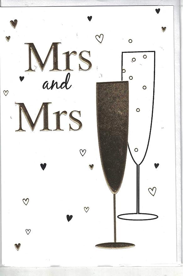Tarjeta de boda ~ Mrs & Mrs felicitaciones en el día de ...