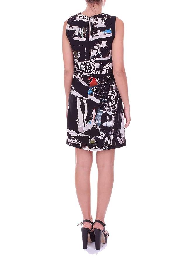 Versace Versus Mujer Bd00904bt21010b7008 Negro Poliéster Vestido: Amazon.es: Ropa y accesorios