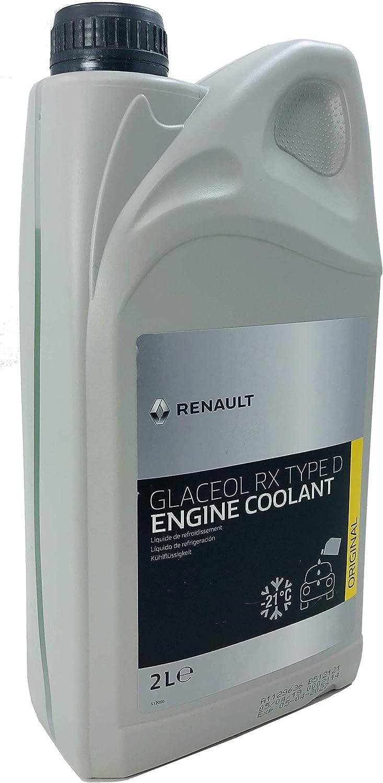 Renault Kühlmittel Glaceol Rx Typ D Grünes Kühlmittel Frostschutzmittel 2 Liter Auto