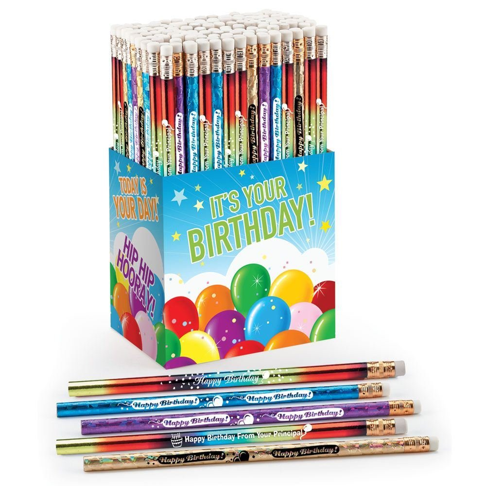 Happy Birthday Award Pencils 150-Piece Assortment by Positive Promotions, Inc. (Image #1)