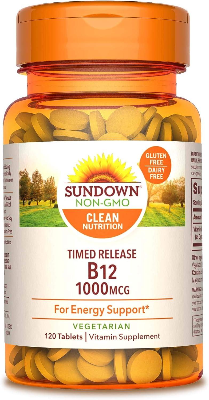 Sundown Vitamin B-12, Energy Support, Ve…