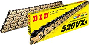 D.I.D 520VX3GB-120 Gold 520VX3 X-Ring Chain 120 Link