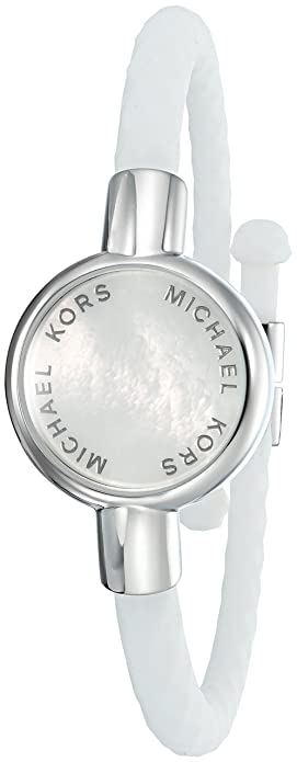 0cab42282dd4 Michael Kors Access Activity Tracker Crosby Silicone Silver Bracelet ...