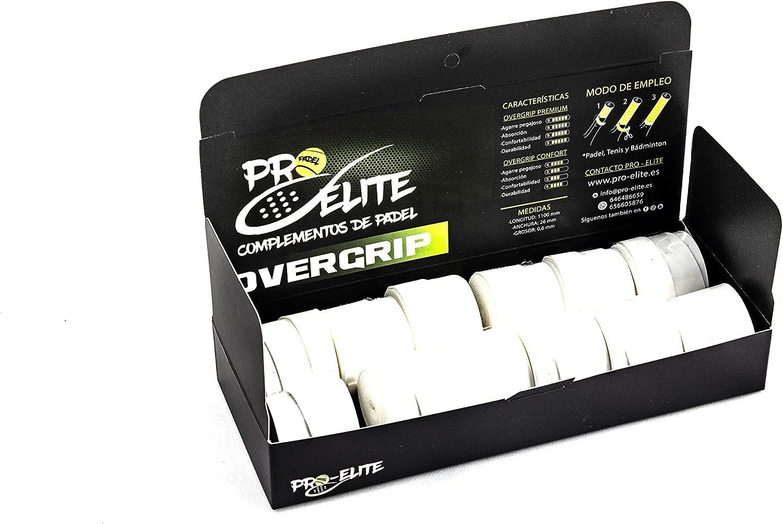 overgrips Pro Elite Premium Perforados Blancos. Caja 10+2 unds ...