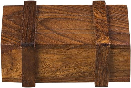 Rusticity caja sorpresa/caja mágica de madera con apertura secreta hecha a mano (10,16 x 6,35 cm): Amazon.es: Juguetes y juegos