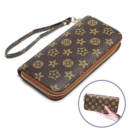 a44077974691 Women Wallets Ladies Cluth Wristlet Wallet with Strap Long Purse ...