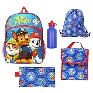 Image Unavailable. Image not available for. Color  Kids Paw Patrol 5 Piece  Pc Backpack Set ... ff83d3e5b244f