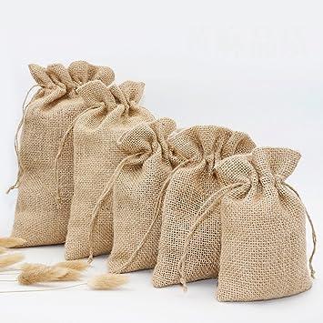 Amazon.com: 20 bolsas de arpillera de imitación para boda ...