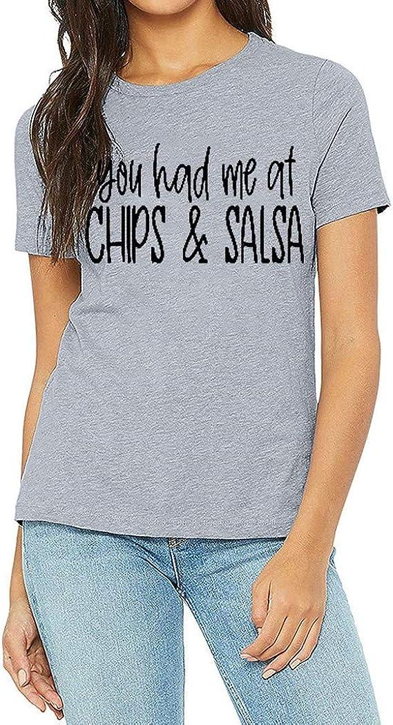 Hokoaidel Camisetas para Mujer, Mujer Moda Redondo ...