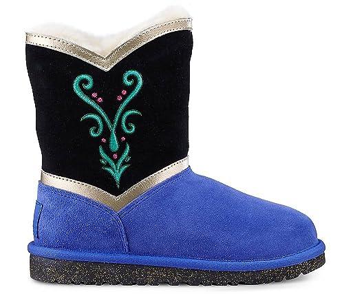 4f507286750 UGG - Botas de Piel Para Niña, Color Azul, Talla 27: Amazon.es: Zapatos y  complementos