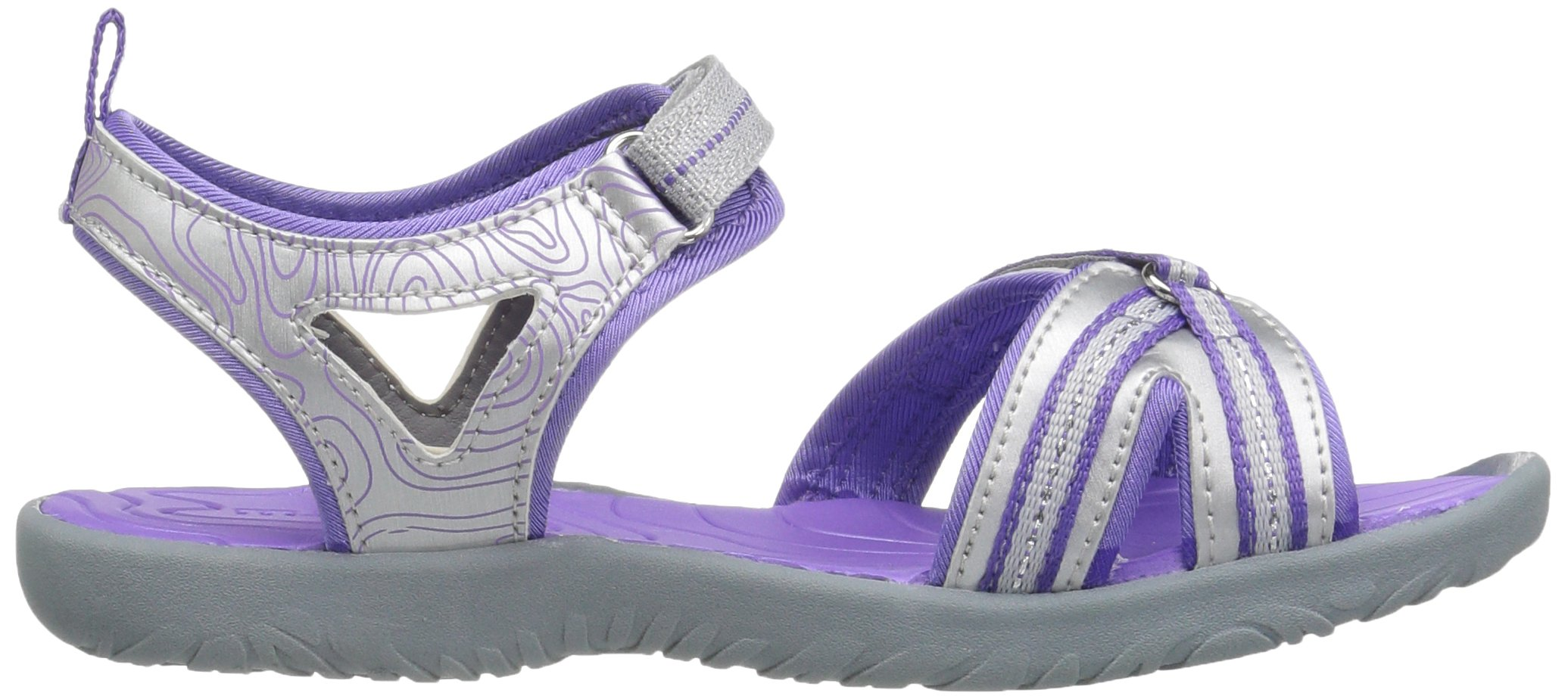 M.A.P. Lorna Girl's Outdoor Sandal, Silver/Purple, 2 M US Little Kid by M.A.P. (Image #7)