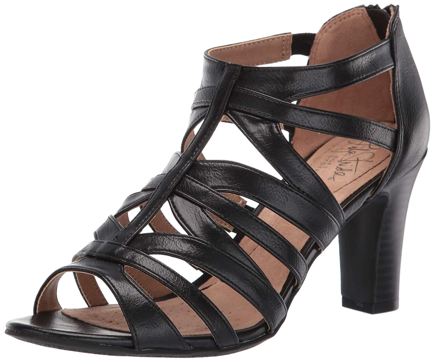 Blk Dustymiller LifeStride Women's Carter Heeled Sandal