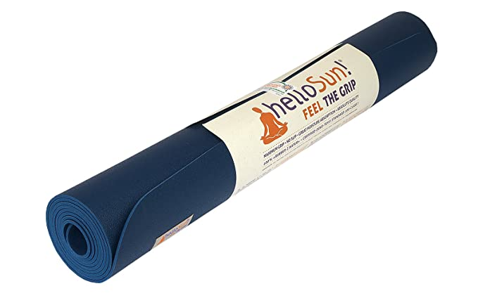 helloSun Premium Quality Performance Yoga mat, Natural Rubber, Superb Grip, Non Slip, Moisture Absorption, Light, OEKOTex Certified, Made in Europe, ...