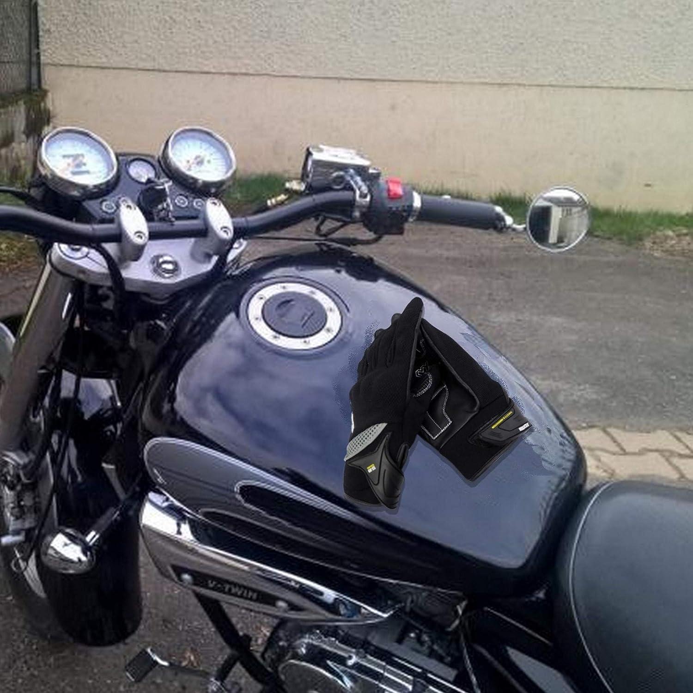 MAXAX Guantes Moto Aprobado por CE para motocicleta y scooter C/ómodo y de Alta Calidad Talla S M L X Unisex Guante T/áctile y Transpirable -1KP Est/ándar Europeo Aprobado por CE Cuero y Textil