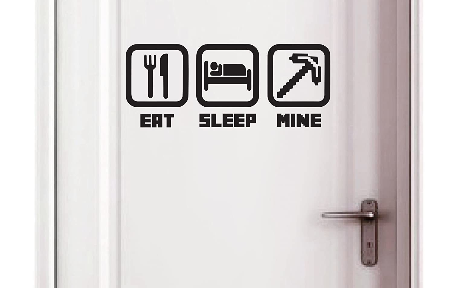 Eat - Sleep - Mine - Kids Bedroom Door Play Room Wall Vinyl Sticker Aufkleber (250x100mm) by Inspired Walls® Inspired Walls®