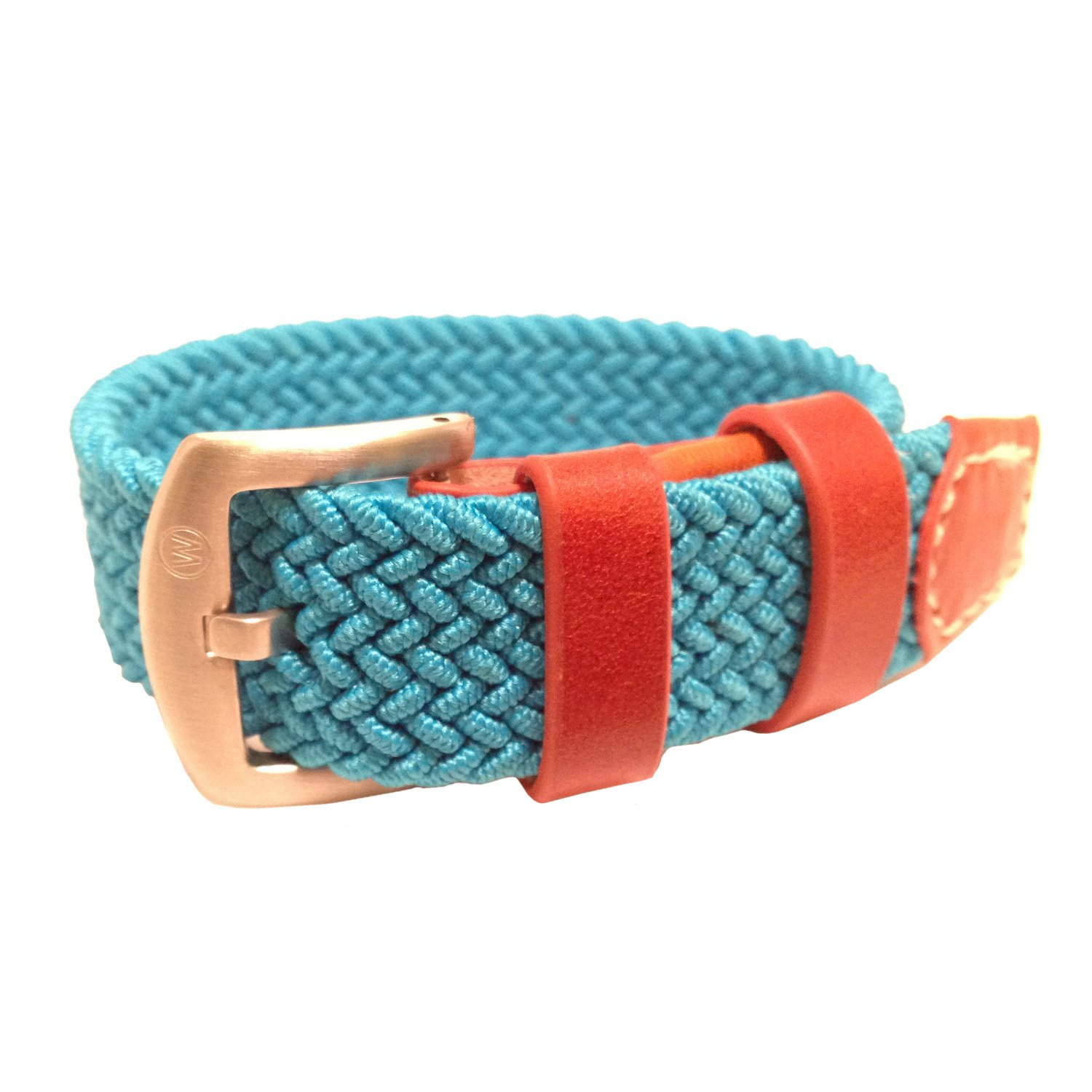 W&S Braided Woven Watch Strap Stretch Watch Band (20mm, Teal) by Wrist & Style (Image #1)