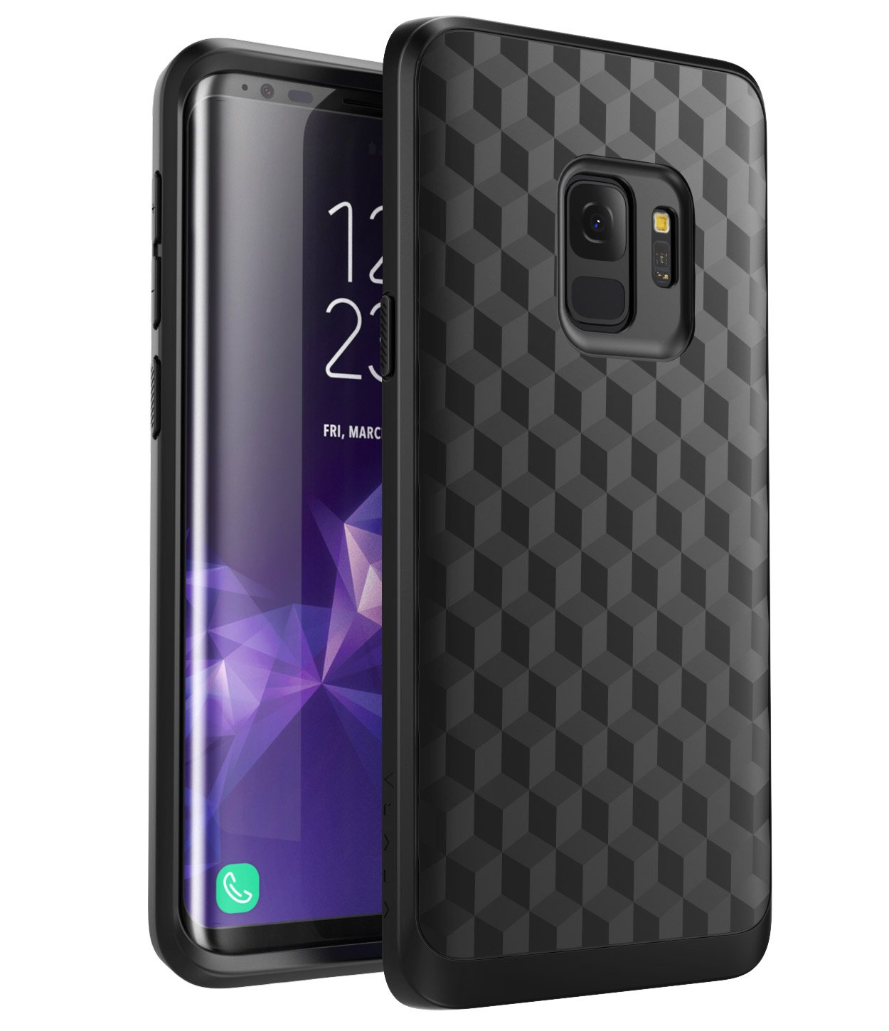 separation shoes 85f10 9f908 Galaxy S9+ Plus Case, Mumba Premium TPU Slim Fit Flexible Protective Case  for Samsung Galaxy S9+ Plus (2018 Release) (Black)