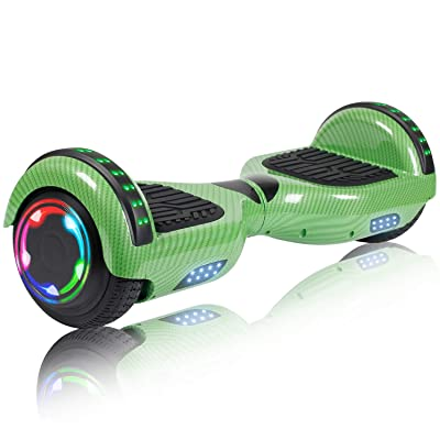 "SISIGAD Hoverboard, 6.5"" Two-Wheel Self Balancing Hoverboard with Bluetooth Speaker - Street Style: Sports & Outdoors"