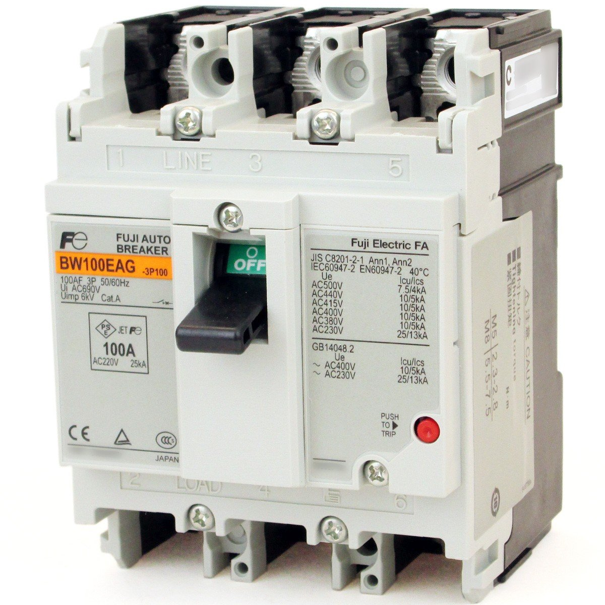 富士電機 BW100EAG-3P100 BWシリーズ 一般配線用オートブレーカ (100A3P3E) NN B00BS5PHFO
