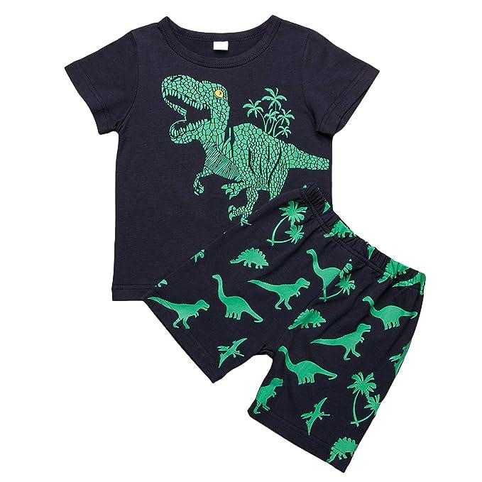 Niños Camiseta T-Shirt Shorts 2 Piezas Traje de Entrenamiento ...