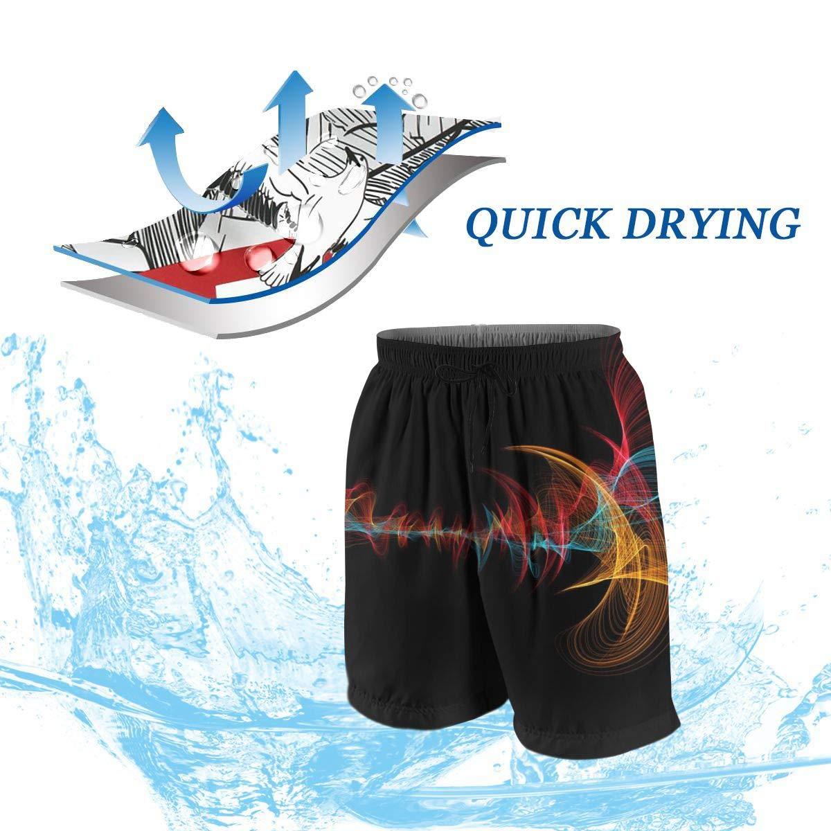 Boys Soft Hawaii Seaside Camper Funny Beach Shorts Swim Trunks Board Shorts