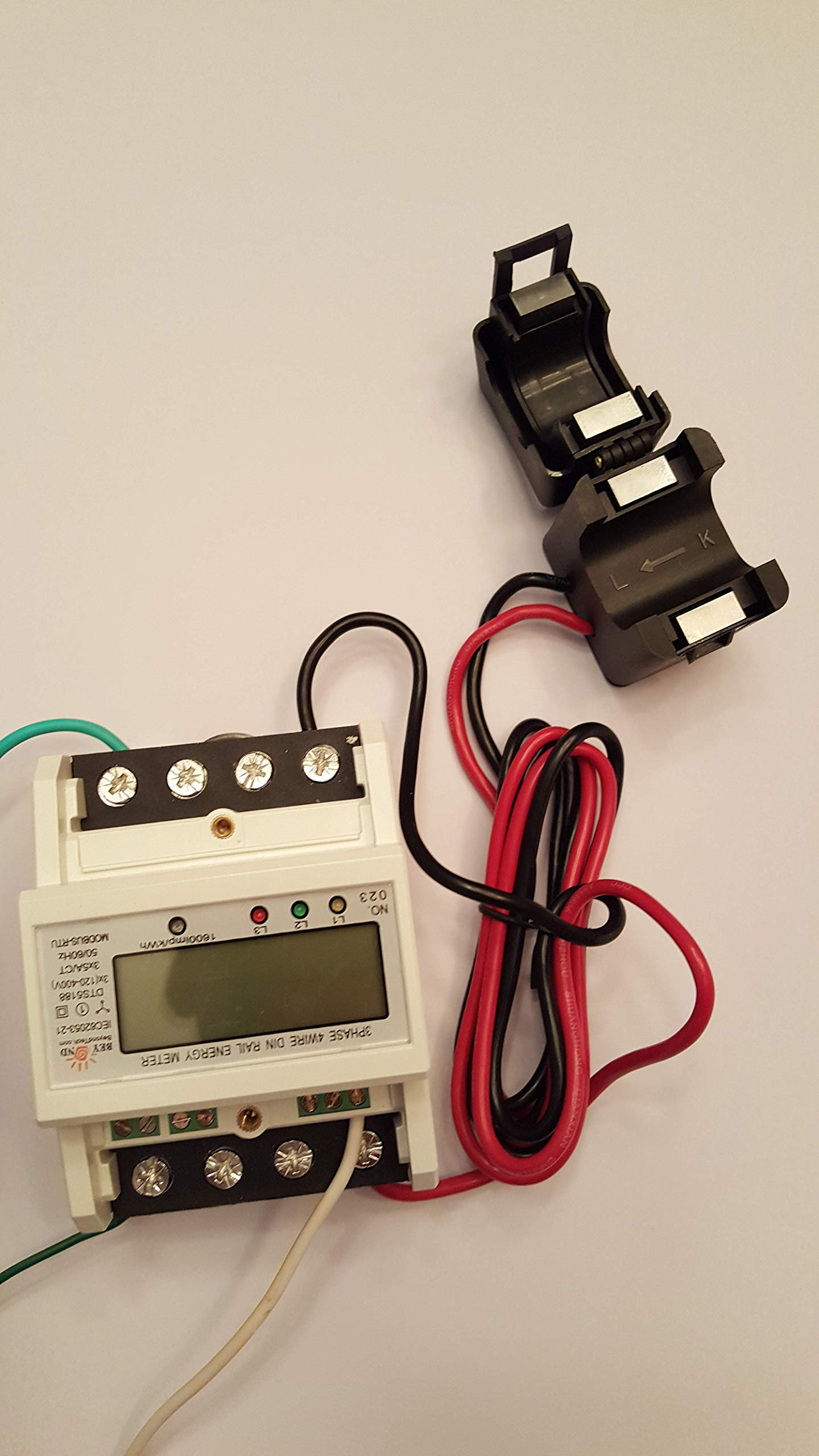 Smart energy meter 1 2 or 3 phase 120V/480V. 2x200:5 Amps included by BeyondTech.com (Image #3)