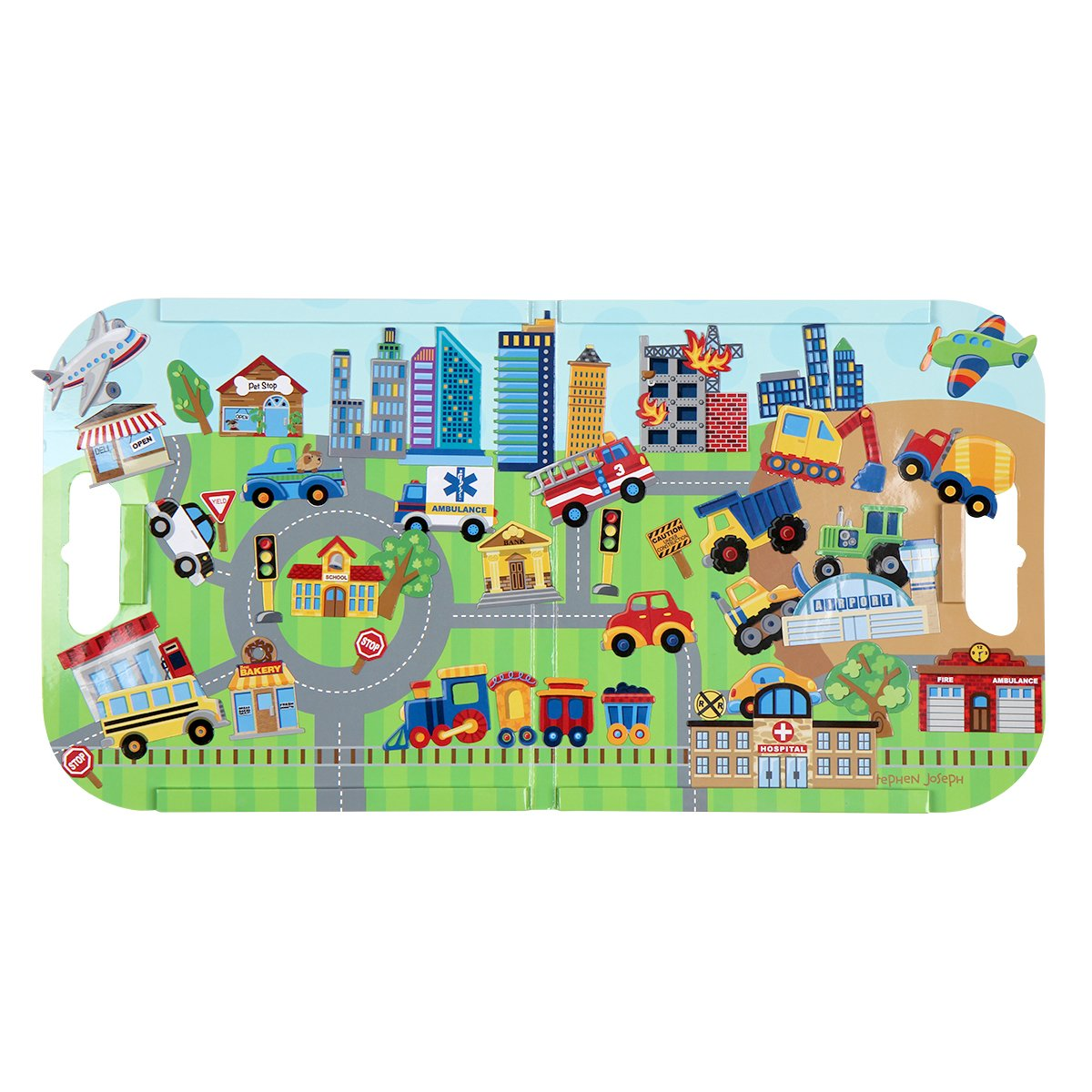 Stephen Joseph Magnetic Play Set, Transportation
