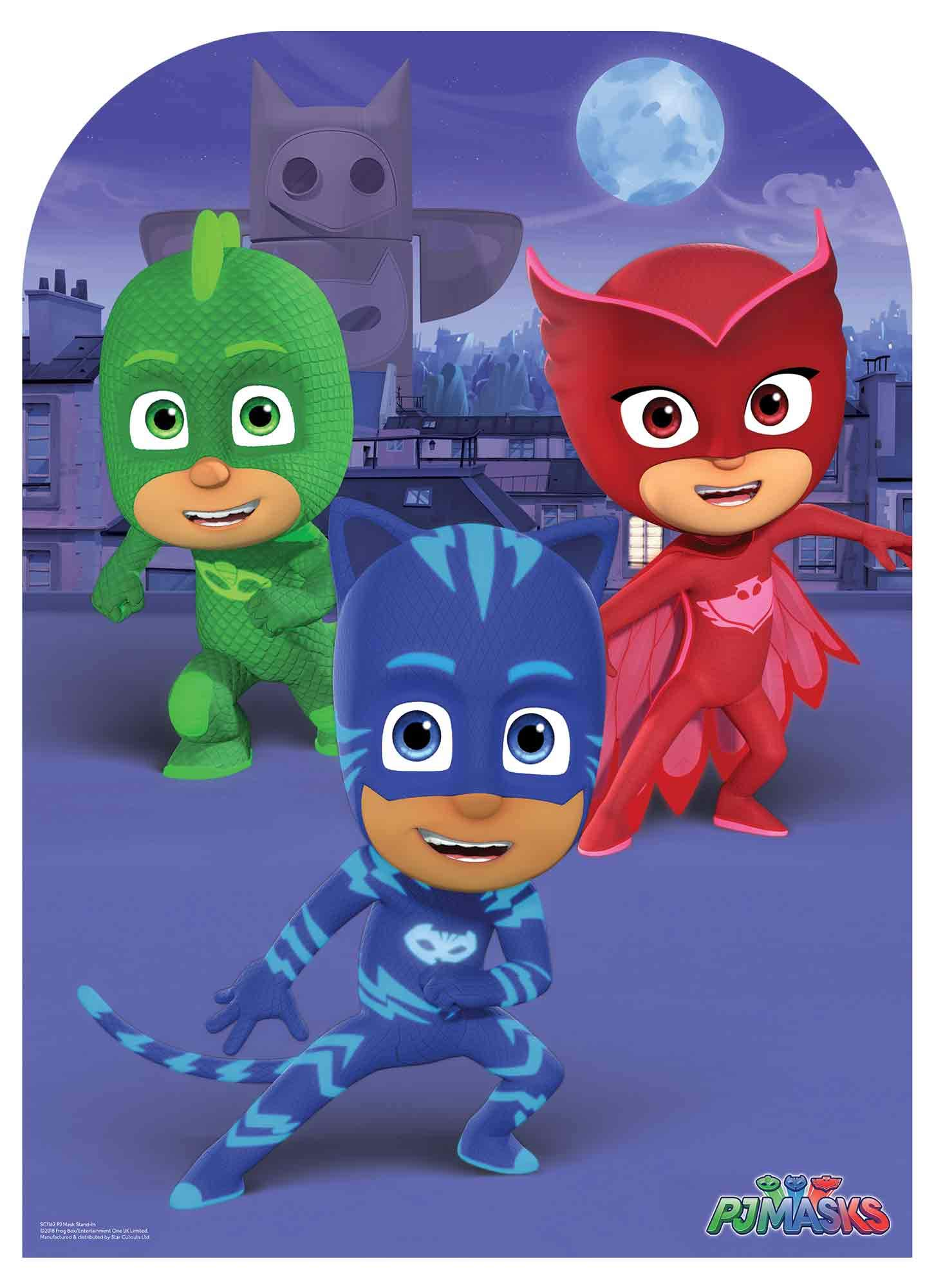 Official PJ Masks Party Child Size Stand In Includes Six Pack of PJ Masks