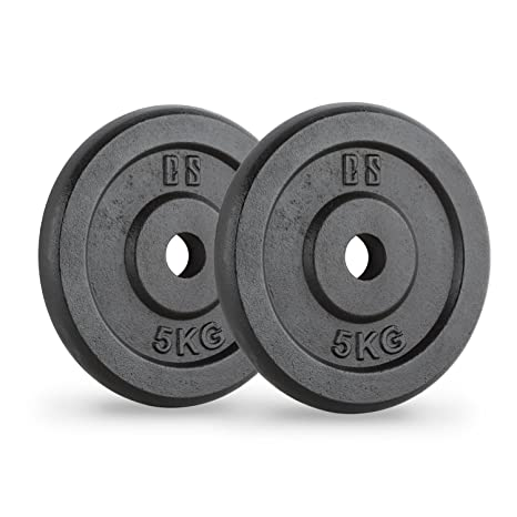 CapitalSports Capital Sports IPB 5 Pareja de Discos para mancuerna Gimnasio (par 30mm 5 kg