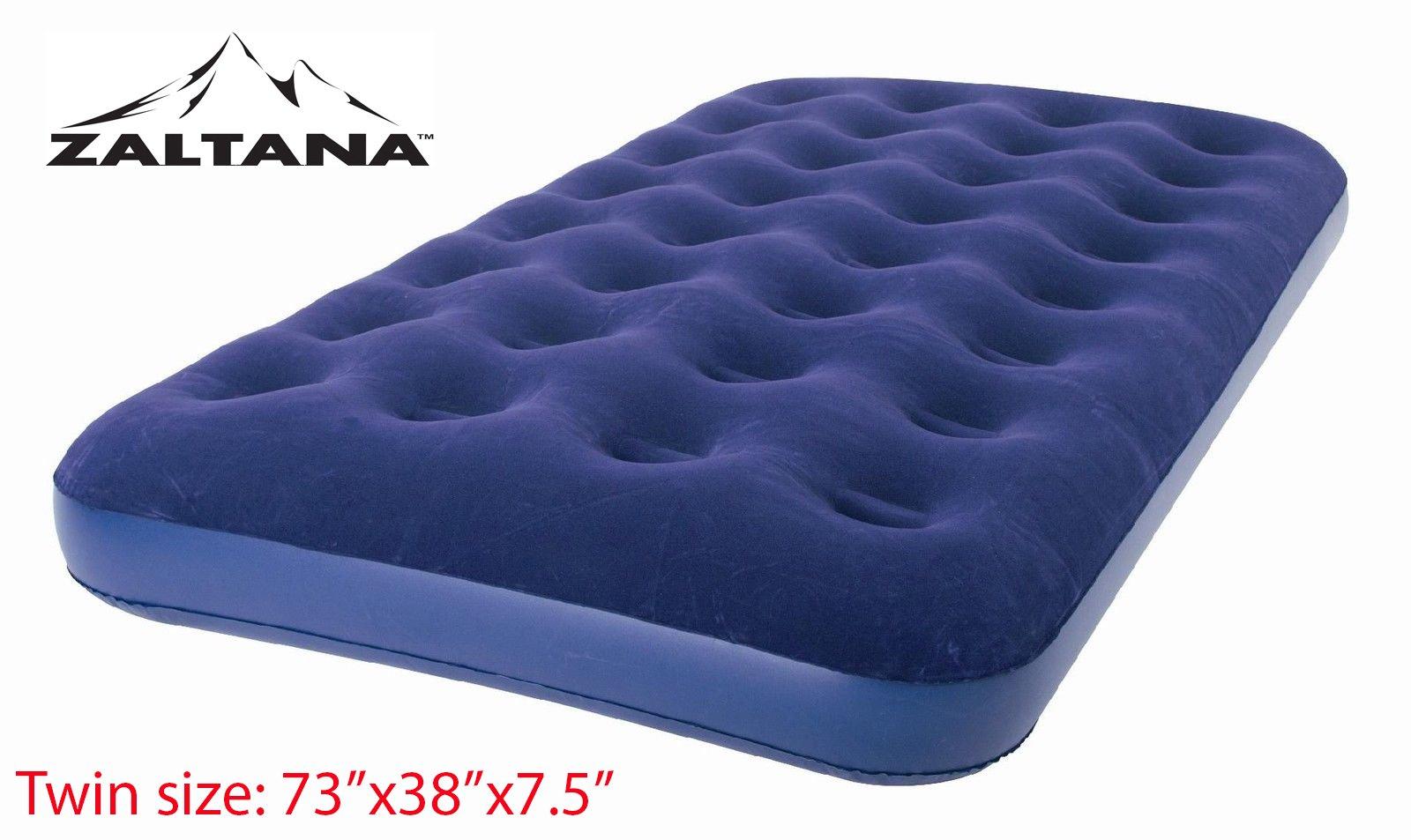 Zaltana Twin Size Air mattress (73''x38''x7.5'') Twin, Navy Blue AMT-N