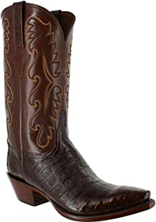 product image for Lucchese Men's Exotic Sienna Caiman Western Boot Snip Toe - E2144-54